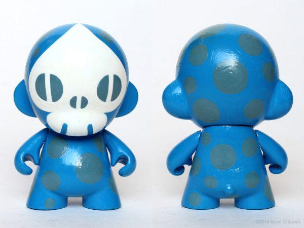 Spade-Skull Micro Munny – Blue : Reactor-88 Store
